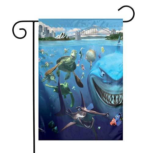 KAWAHATA Sharks and Fishes UV Fade Resistant Garden Flags Custom Vivid Color Home Decoration