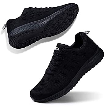 Womens Sneakers Breathable Athletic Walking Running Workout Comfortable Outdoor Travel Shoes Black 6
