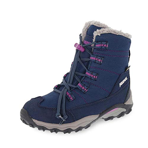Meindl 7702-68 Yolup Kinder Mädchen Gore-TEX® Winterboots molliges Warmfutter, Groesse 37, dunkelblau/pink