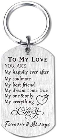 Soulmate Anniversary Valentine Wedding Keychain Gifts for Love Husband Wife Girlfriend Boyfriend product image