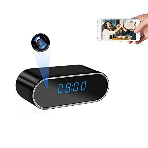 UYIKOO Cámara Espía Oculta Cámara Reloj WiFi HD 1080P Mini Cámara Espía para la Seguridad de la Casa Cámara Nodriza con Lentes de 140 Grados Soporte de Visión Nocturna y Detección de Movimiento