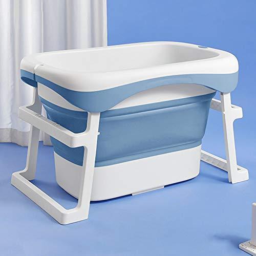 Bañera Plegable, bañera 2 en 1, proporcionando una posición de Soporte Segura para los niños de recién Nacidos a 8 años de Edad,Azul