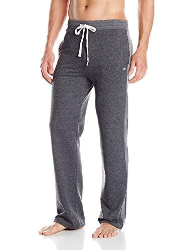 YogaAddict Herren-Yogahose, auch für Pilates, Fitness, Training, Freizeit, Lounge, Schlafen, Kampfsport, lang Größe L dunkelgrau