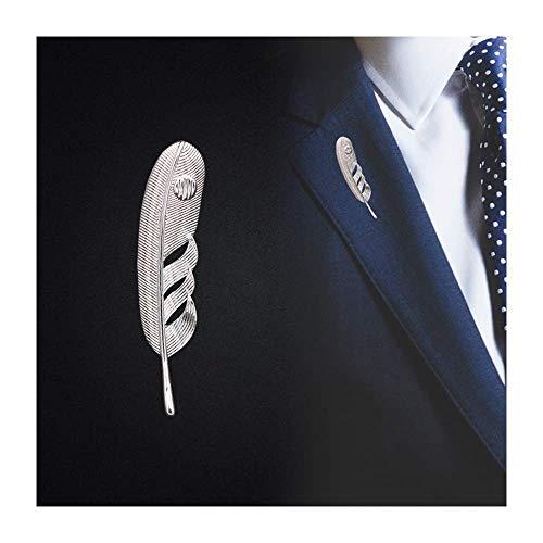 LLSS High-end Business Simple Suit Brooch Men's Wild Windbreaker Feather Men's Sweater Windbreaker