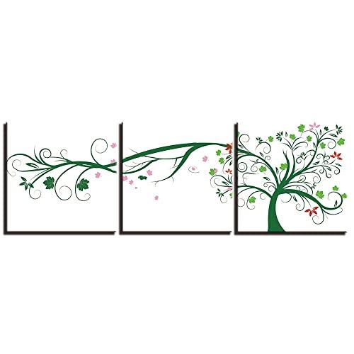 Listo Para Colgar Sala De Estar Decoración Cuadro Moderno De La Pared Del Arte De La Impresión De La Lona 3 Paneles Pinturas Abstractas Del Árbol Decoración Obra De Arte Impresión De La Lona-40X4