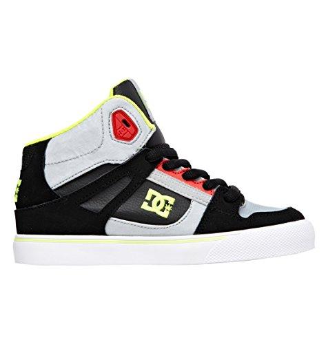 DC Jungen Spartan HIGH B Shoe GRF top, Grau (Grey/RED), 35 EU