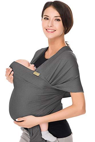 CUBY Babytragetuch Atmungsaktiv Baby Tragetuch Neugeborene Kleinkinder Babytrage Elastisches 100% Weiche Bio-Baumwolle