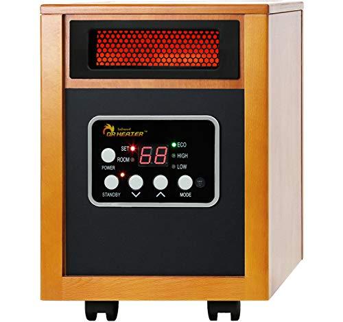 Dr Infrared Heater Quartz + PTC Infrared Portable Space Heater - 1500 Watt, UL Listed