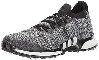 adidas Men's TOUR360 XT Primeknit Golf Shoe, core Black/White/Silver Metallic, 10 Medium US