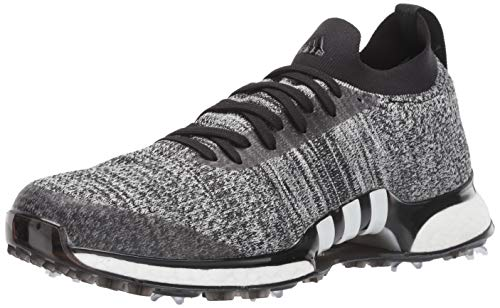 adidas Men's TOUR360 XT Primeknit Golf Shoe, core Black/White/Silver Metallic, 9 Medium US