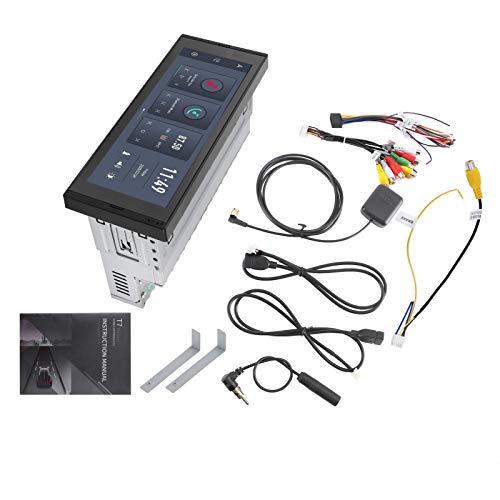 KIMISS Navegador GPS, Navegador GPS de 6,9 pulgadas, reproductor multimedia de radio estéreo WIFI universal, pantalla táctil completa con Bluetooth, llamada de manos libres, aviso de freno(2 + 32G)