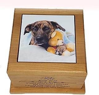 Pet memorial dog lover gift urn pet cremation urn dog memorial pet urn Personalized pet loss gifts sharing custom pet portrait