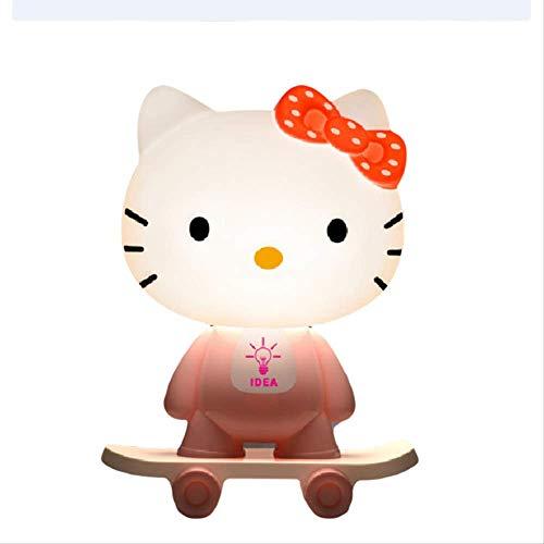Nachtlicht Beleuchtung Nachtlichter Hallo Kitty Katzentischlicht Kleines Nachtlicht Katie Katzenkopf Dekoratives Licht Warmes Licht Lampe Skateboard Kt Katzentischlampe