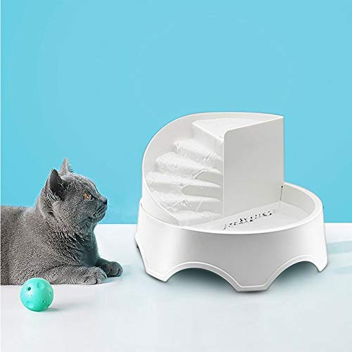 Lulu Home Cat and Dog Water Fountain, 1.5L Pet Health Caring Fountain, Filtered Water for Your Pet (White)