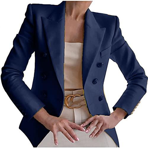 yiouyisheng Cardigan Blazer da donna a maniche lunghe, elegante, cardigan, cardigan,...