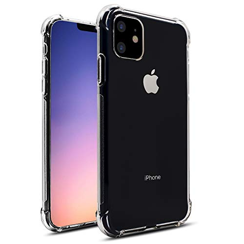 JRE iPhone 11 Clear Case Antiscratch Shock Absorption Cover Case 6.1 2019 Compatible