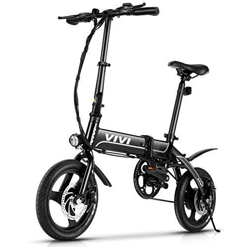 """VIVI Bici Elettrica Pieghevole, 14"""" Bici Elettrica 350W Ebike Città, Bicicletta Elettrica per Adulti con Batteria Rimovibile Da 7,8 Ah, 3 Modalità di Lavoro, Velocità Massima 25km/h"""