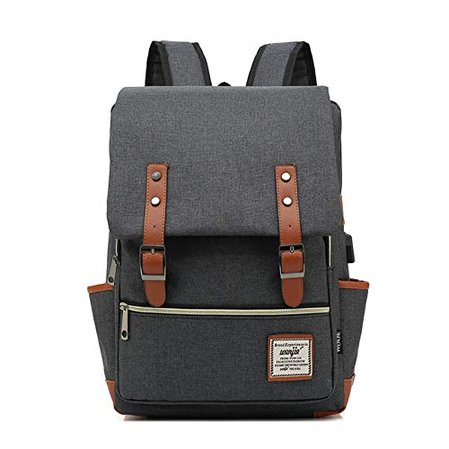 ZXHDP Oxford Stoff Reisetasche Geschäft Rucksäcke 35L übergroße Reise Schule Gepäck Rucksack, Mit USB-Ladeanschluss und Kopfh