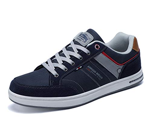 AX BOXING Sneakers Hombre Zapatos Casual Zapatillas Moda Ligero Deporte Gimnasio Running Tamaño 41-46 (Azul Oscuro, Numeric_44)