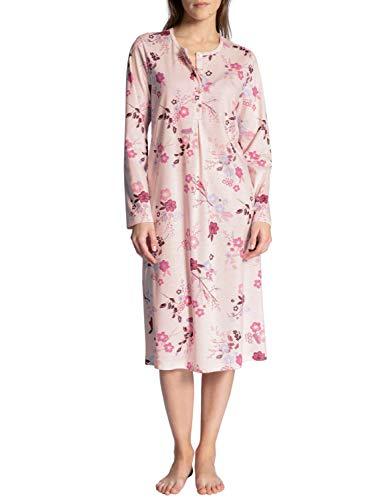 CALIDA Damen Cosy Cotton Nights Nachthemd, Barely Rose Print, 40-42