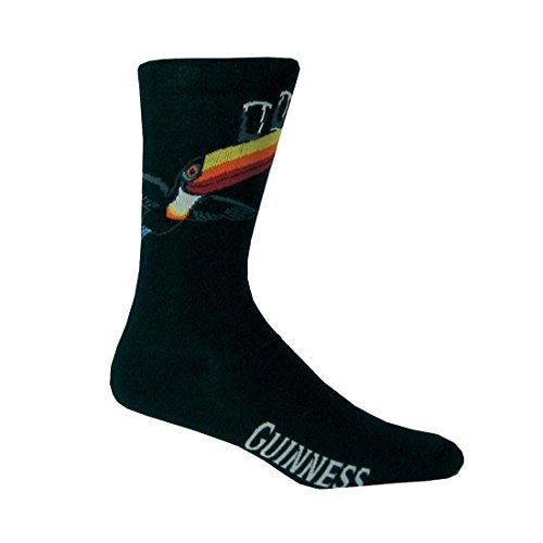 Chaussettes Guinness noir avec imprimé Guinness et Toucan volant