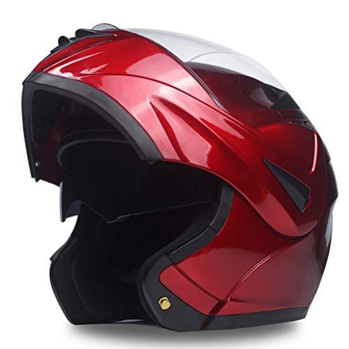 Motesen Casco da motociclista unisex per caschi da moto Flip Up per uomo Casco da moto integrale Casco da moto modulare 2020