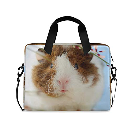 MAHU Laptop Case Bag Animal Guinea Pig Flowers Laptop Sleeves Briefcase 13 14 15.6 inch Computer Messenger Bag with Handle Strap for Women Men Boys Girls