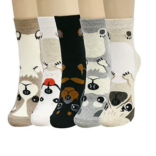 SocksMore Women Cute Lovely Animals Crew Socks for Girls Crazy Funny Novelty Gift