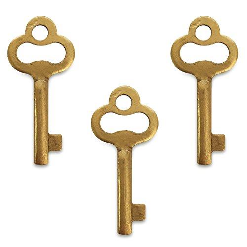 Creative Deco 3 x Schlüssel Ersatzschlüssel für Schmuckkästchen | Holzbox | Perfekt für alle unsere Abschließbare Boxen