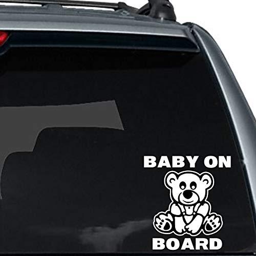 Lplpol Premium Autocollant en vinyle anti-poussière Motif ourson mignon bébé à bord 15 cm