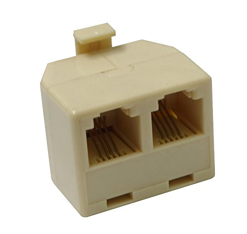 Aerzetix - Multipresa doppia 6p4c RJ11 per ADSL cavo modem Internet telefono .