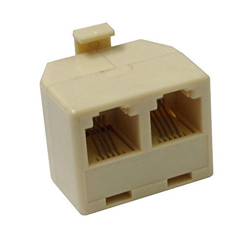 AERZETIX: Adaptador Doble RJ11 6p4c para Cables de teléfono o ADSL Modem C4426