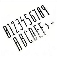 8cm3Dフローティングハウスプラーク番号0-9文字A-Fダッシュ矢印サインプラスチックホームアドレスドア番号デジタル屋外サインプレートホテルステッカーラベルブラック、防錆、1個