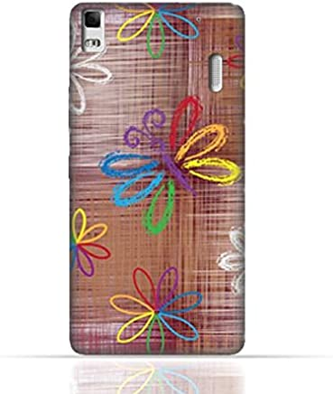 Lenovo K3 Note/Lenovo A7000 TPU Silicone Case With Rainbow Butterfly Pattern Design.