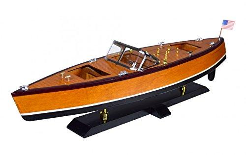 Navyline Holz Modellschiff mit Standfuß - Amerikanisches Motorboot - Länge 56cm