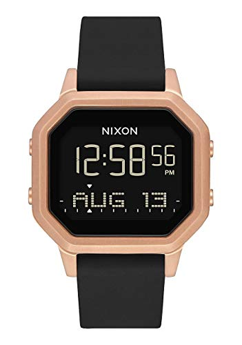 Nixon Damen Digital Smart Watch Armbanduhr mit Silikon Armband A1211-1098-00