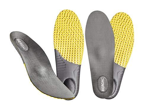 BERGAL 2 Paar Einlegesohlen Daily Support Gr. 45, Schuheinlage und Fußbett für jeden Tag mit Memory Fersenkissen