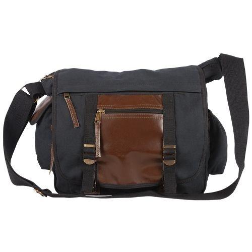 Fox Outdoor 43-21 Deluxe Concealed-Carry Messenger Bag - Vintage Black