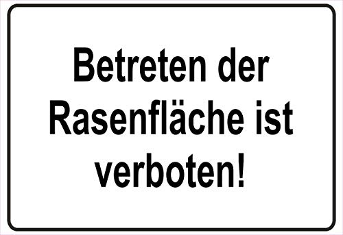 Netspares 138773377 Schild Hinweisschild Hinweis Betreten der Rasenfläche Rasen Verbot