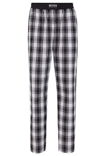 BOSS Herren Urban Pants Karierte Pyjama-Hose aus Baumwoll-Popeline