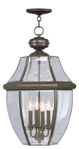 Livex Lighting 2357-07 Monterey 4-Light Outdoor Hanging Lantern, Bronze