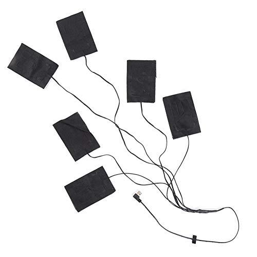Paño Calefactor Eléctrico, Almohadillas Térmicas Eléctricas USB Paño Con 3 Engranajes, Lavable, Ropa Chaleco Paño Almohadilla Térmica Ropa Chaqueta Almohadillas Calentador Sábana Paños Eléctricos Para