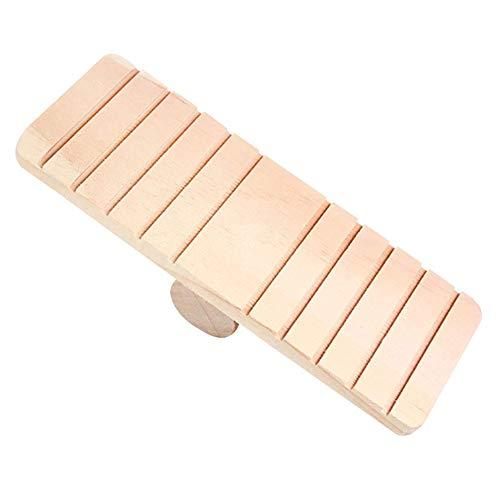 Irinay Hamster Holzspielzeug Mit Anti Rutsch Wippe Beißbrett Chic Eichhornchen Kafig Spielzeug Dekoration Cute Mode Haustierzubehör Produkte (Color : Multi, Einheitsgröße : Einheitsgröße)
