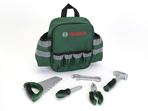 Theo Klein 8326 8326-Bosch Rucksack mit Handwerkzeugen, Spielzeug, Grün, Silber