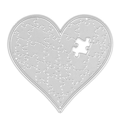 Demiawaking Puzzle di Cuore Fustelle per Scrapbooking Stencil Cutting Dies DIY Scrapbooking Album Foto Segnalibro Goffratura Mestiere per Biglietti di Auguri