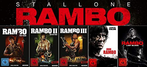 Rambo 1 + 2 + 3 (Digital Remastered) + John Rambo + Rambo - Last Blood [5-DVD] Keine Box