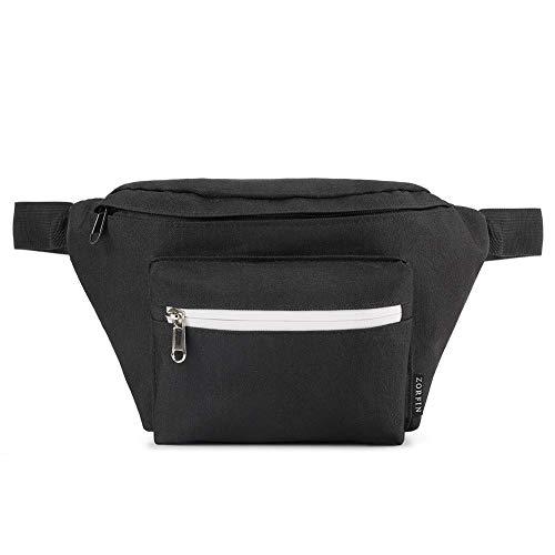 Fanny Pack para hombres y mujeres, paquete de cinturón de moda espacioso Hip Pack