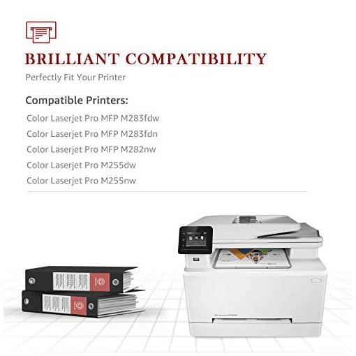 Toner Kingdom 207A Cartuchos de tóner Compatibles para HP 207A HP 207X HP W2210A W2211A W2212A W2213A para HP Color… 5