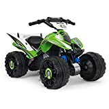INJUSA - Kawasaki Quad ATV 12V concesso in licenza con retromarcia e freno...