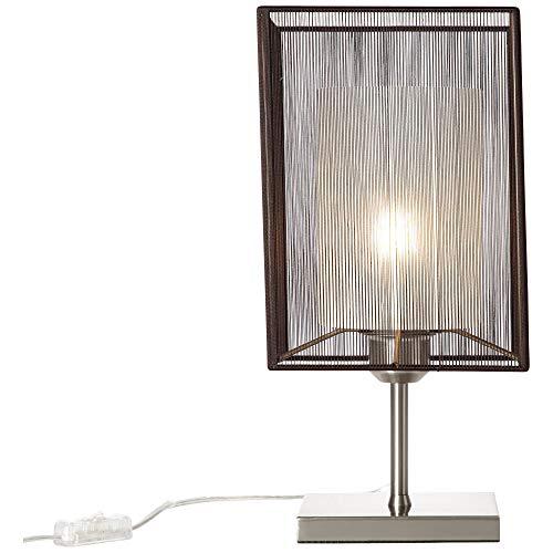BRILLIANT lamp Cage tafellamp brons/nikkel |1x A60, E27, 30W, geschikt voor normale lampen (niet inbegrepen) |Schaal A ++ tot E |Met snoerschakelaar